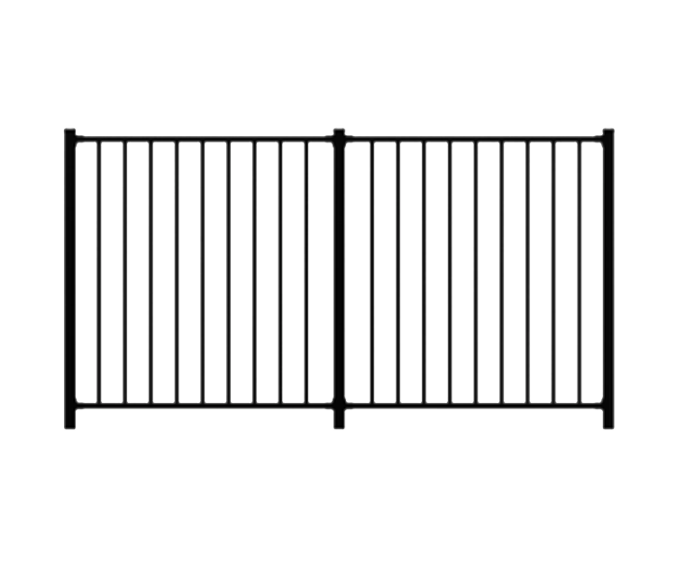 Lodge Aluminium Fence Panels Pathway Gate And Driveway Gate That